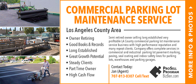 Parking Lot Maintenance Company For Sale