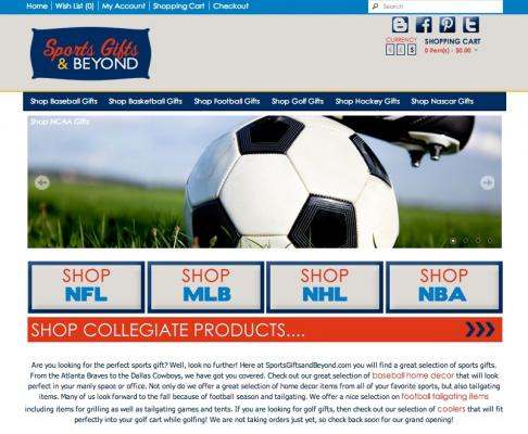 California Sports Gift Ecommerce Store With Training For Sale