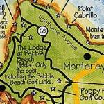 Monterey Peninsula Tourist And Visitor Map Service For Sale