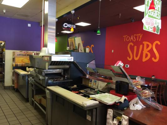 Stockton Quiznos Sandwich Fast Food Franchise For Sale
