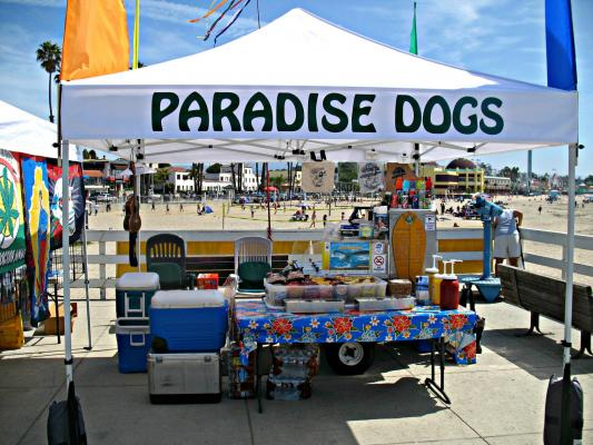 Santa Cruz County Area Exclusively Hot Dog Cart - Prime Beach Location For Sale