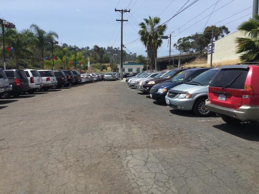 San Dego County Used Car Dealership - With Or Without Real Estate For Sale