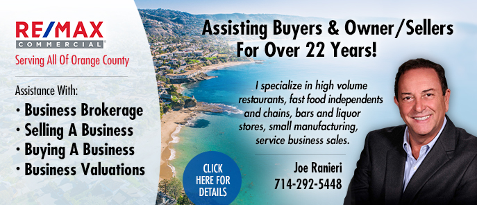 Joe Ranieri Orange County Business Broker