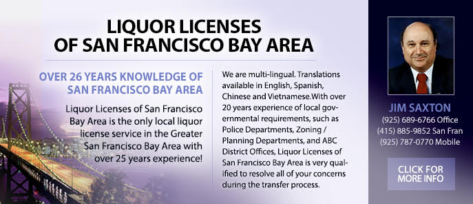 Jim Saxton SF Liquor Licenses