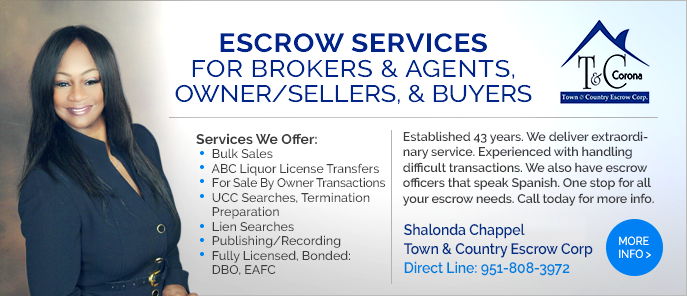 Escrow Town And Country Southern California
