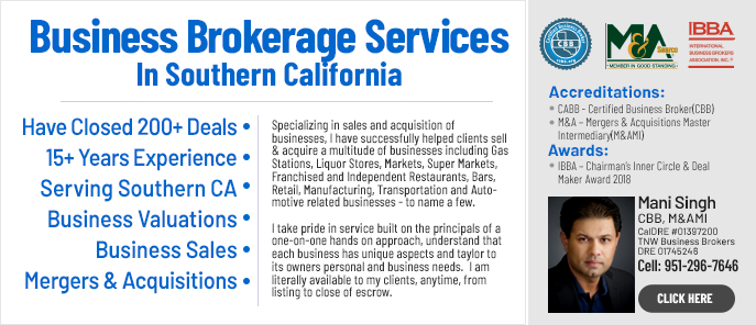 Inland Empire Area Business Broker Mani Singh