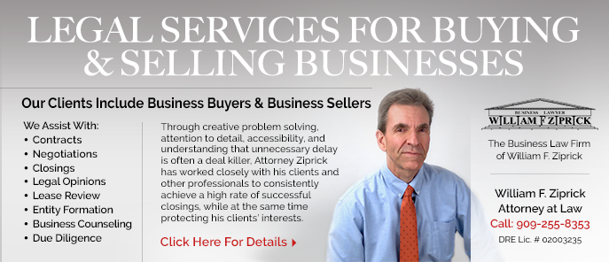 Bill Ziprick Legal Advise