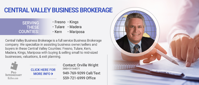 Orville Wright Central Valley Business Broker