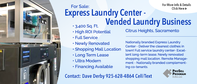 Sacramento Area Laundromat Selling
