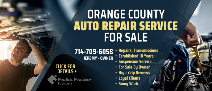 Auto Repair Shop For Sale Orange County