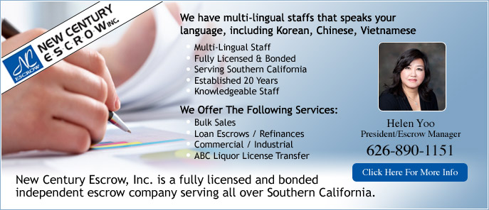 Escrow Services From Helen Yoo New Century Escrow