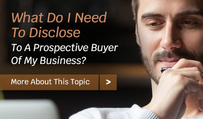 Disclosures Needed For Business Buyers