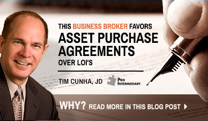 Business Broker Favors APAs Over LOIs
