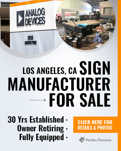 Sign Company For Sale