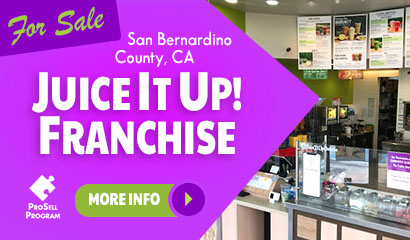 San Bernardino Juice It Up Franchise For Sale
