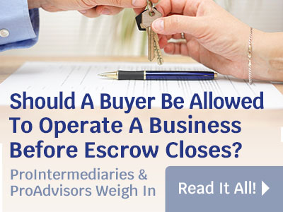 Should Buyers Take Control Before Closing?