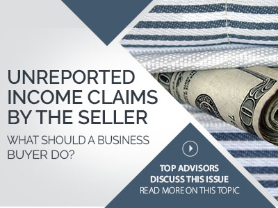 Unreported Income Claims By Sellers