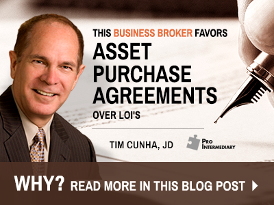 Business Broker Likes Purchase Agreements