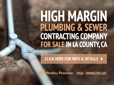 High Margin Plumbing Service For Sale