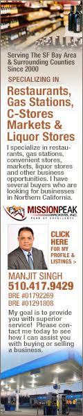 Manjit Singh SF Bay Area Business Broker