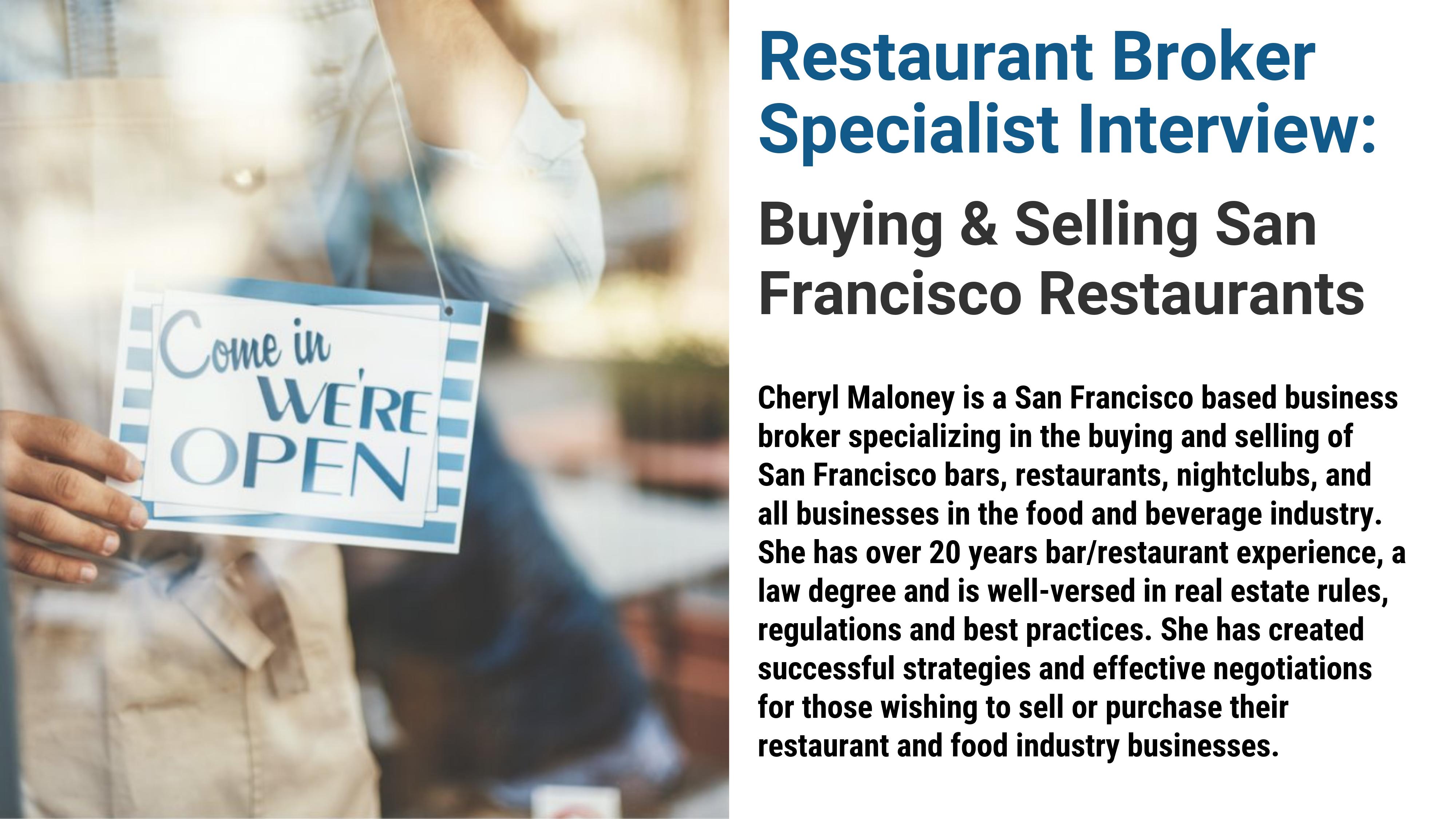 Brokers And Sellers >> Buying Or Selling San Francisco Restaurants Buyer Seller