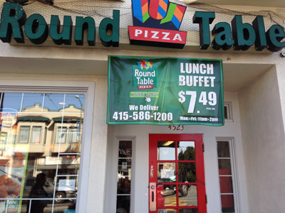 Mission Excelsior, San Francisco Absentee Run Round Table Pizza Franchise  For Sale