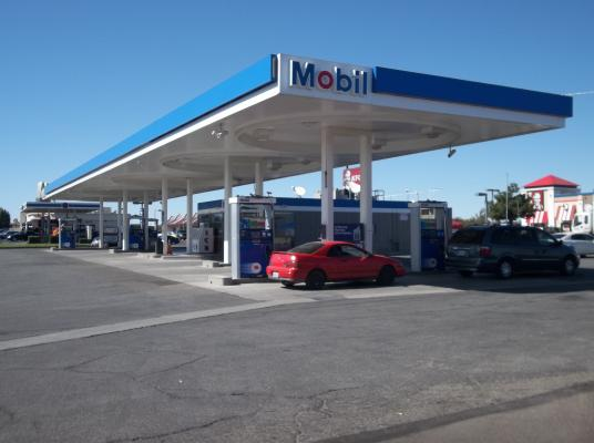 San Bernardino County Mobil Gas Station C Drive Thru For