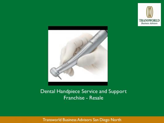 Stockton, San Joaquin County Dental Handpiece Franchise For Sale