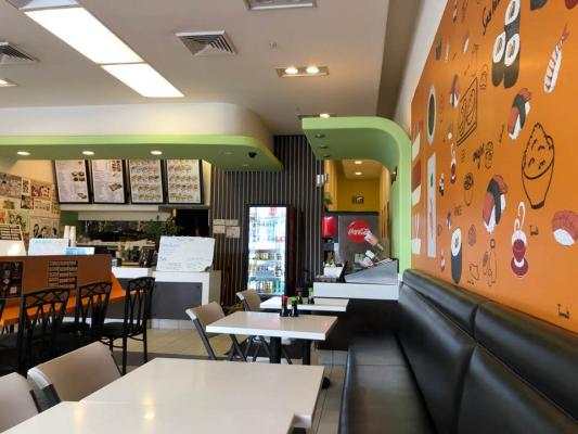 Azusa, Los Angeles County Sushi Roll Ramen Restaurant - In Shopping Mall For Sale