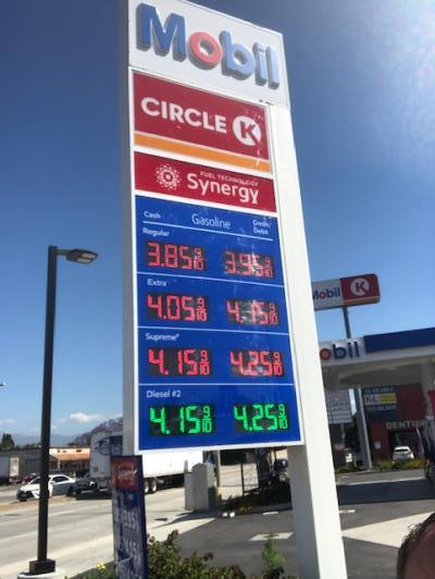 San Gabriel Valley Mobil Gas Station, Circle K Business For Sale