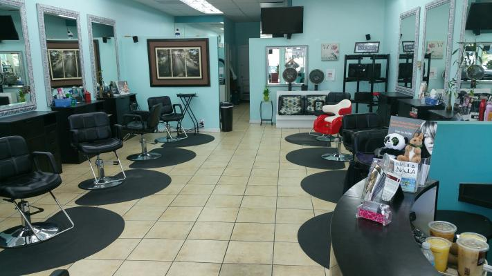Canoga Park, LA County Hair Salon - Upscale, 10 Chair For Sale