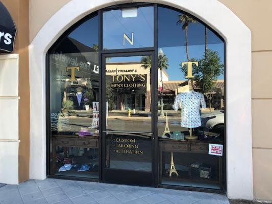 Palm Desert, Riverside County Mens Italian Apparel Clothing Store - Great Area For Sale