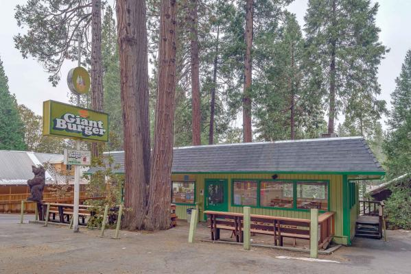Arnold, Calaveras County Giant Burger Restaurant With Real Estate Business For Sale
