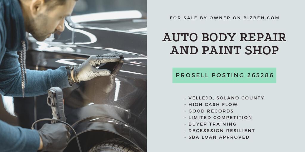 Vallejo Solano County Auto Body Repair And Paint Shop For Sale Bizben Com Posting 265286